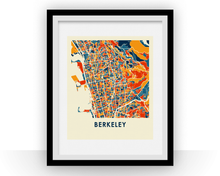 Berkeley Map Print - Full Color Map Poster