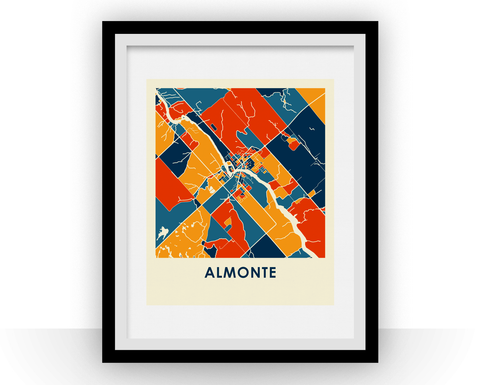 Almonte Map Print - Full Color Map Poster