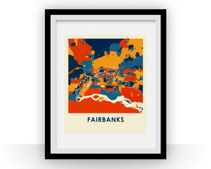 Fairbank Map Print - Full Color Map Poster