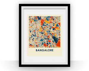 Bangalore Map Print - Full Color Map Poster