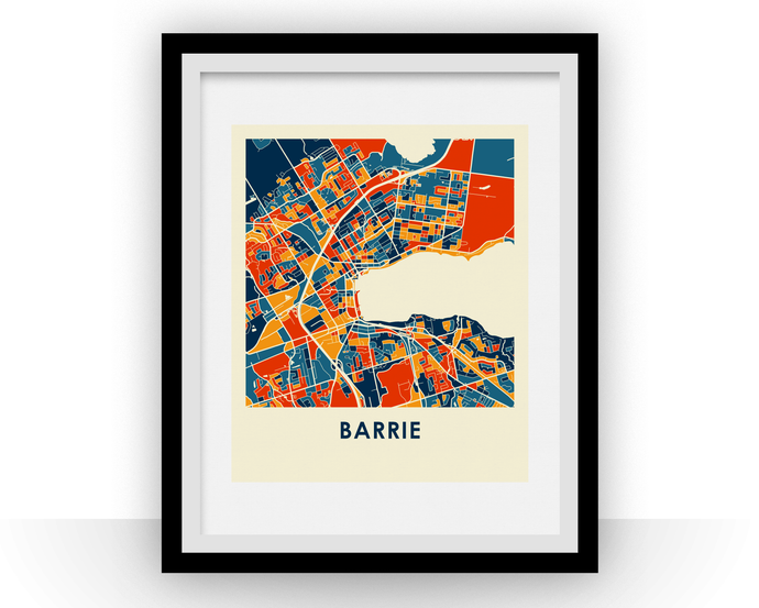 Barrie Ontario Map Print - Full Color Map Poster