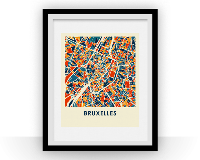 Bruxelles Map Print - Full Color Map Poster