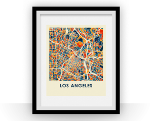 Los Angeles Map Print - Full Color Map Poster