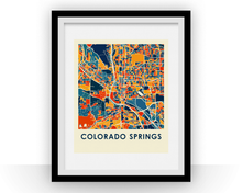 Colorado Springs Map Print - Full Color Map Poster