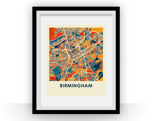 Birmingham Alabama Map Print - Full Color Map Poster