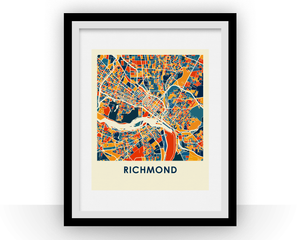 Richmond Map Print - Full Color Map Poster
