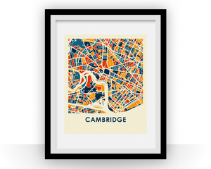 Cambridge MA Map Print - Full Color Map Poster