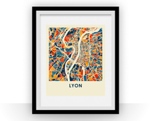 Lyon Map Print - Full Color Map Poster
