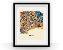 Baku Map Print - Full Color Map Poster