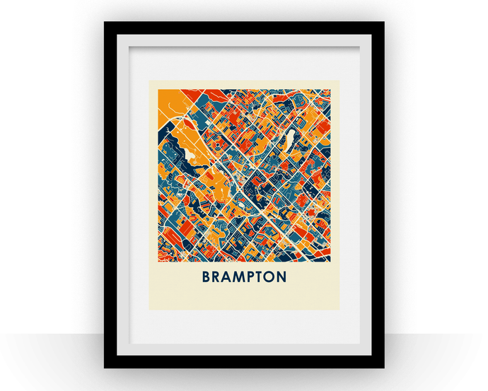 Brampton Ontario Map Print - Full Color Map Poster