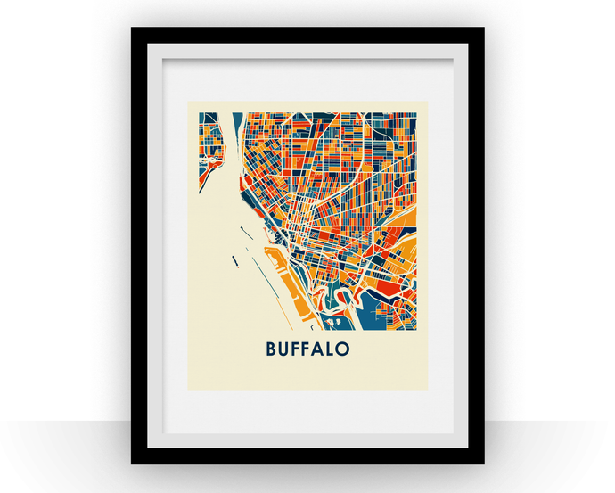 Buffalo Map Print - Full Color Map Poster