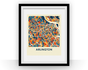 Arlington VA Map Print - Full Color Map Poster