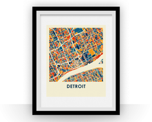 Detroit Map Print - Full Color Map Poster