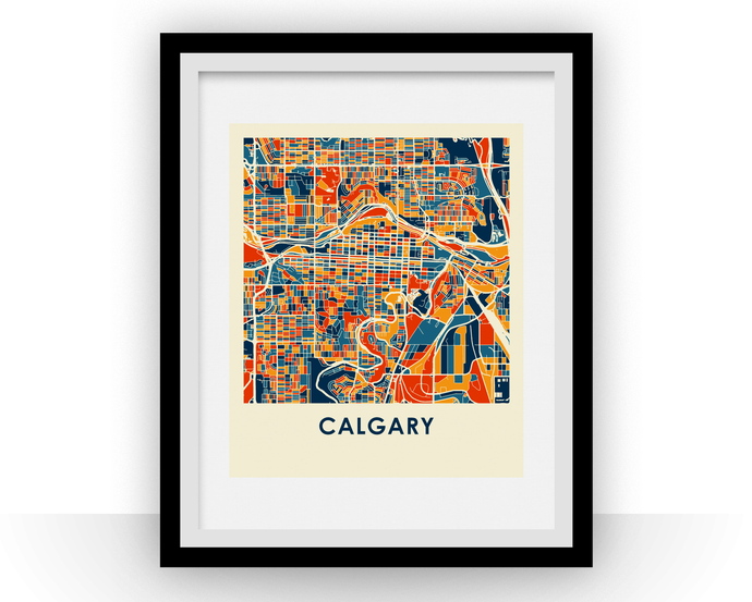 Calgary Map Print - Full Color Map Poster