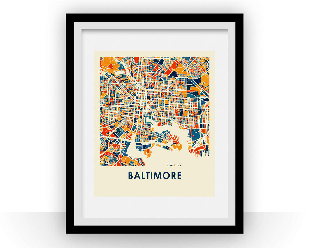 Baltimore Map Print - Full Color Map Poster