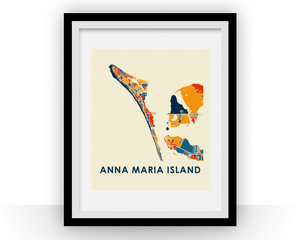 Anna Maria Island Map Print - Full Color Map Poster