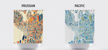 Seattle Map Shower Curtain - usa Shower Curtain - Chroma Series