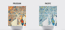 Tampa Map Shower Curtain - usa Shower Curtain - Chroma Series
