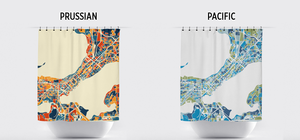 Madison Map Shower Curtain - usa Shower Curtain - Chroma Series