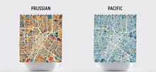 Houston Map Shower Curtain - usa Shower Curtain - Chroma Series