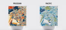 Karachi Map Shower Curtain - pakistan Shower Curtain - Chroma Series
