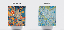 Boise Map Shower Curtain - usa Shower Curtain - Chroma Series