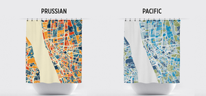Liverpool Map Shower Curtain - uk Shower Curtain - Chroma Series
