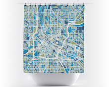 Minneapolis Map Shower Curtain - usa Shower Curtain - Chroma Series