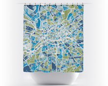 Manchester Map Shower Curtain - uk Shower Curtain - Chroma Series