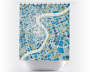 Shanghai Map Shower Curtain - china Shower Curtain - Chroma Series