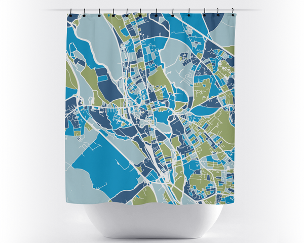 Oxford Map Shower Curtain - uk Shower Curtain - Chroma Series
