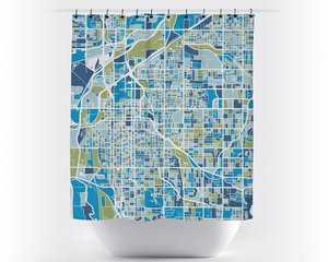 Lincoln Map Shower Curtain - usa Shower Curtain - Chroma Series