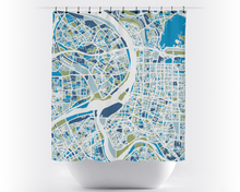 Taipei Map Shower Curtain - taiwan Shower Curtain - Chroma Series