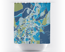 Santa Fe Map Shower Curtain - usa Shower Curtain - Chroma Series