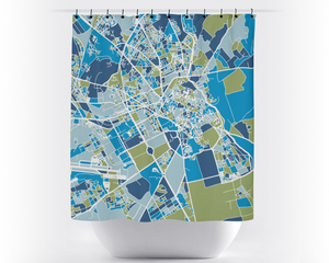 Marrakesh Map Shower Curtain - moroco Shower Curtain - Chroma Series