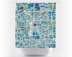Beijing Map Shower Curtain - china Shower Curtain - Chroma Series