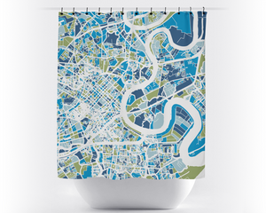 Ho Chi Minh Map Shower Curtain - Saigon Shower Curtain - Chroma Series