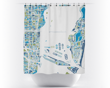 Miami Map Shower Curtain - usa Shower Curtain - Chroma Series