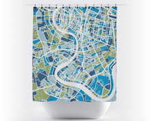 Bangkok Map Shower Curtain - thailand Shower Curtain - Chroma Series