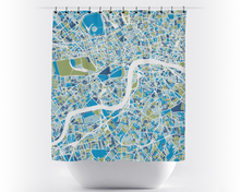 London Map Shower Curtain - uk Shower Curtain - Chroma Series
