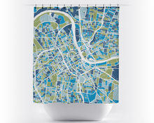 Nashville Map Shower Curtain - usa Shower Curtain - Chroma Series
