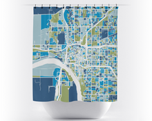 Tulsa Map Shower Curtain - usa Shower Curtain - Chroma Series