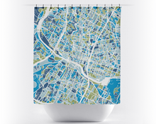 Austin Map Shower Curtain - usa Shower Curtain - Chroma Series