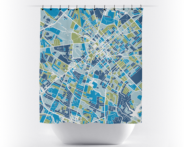 Lexington Map Shower Curtain - usa Shower Curtain - Chroma Series