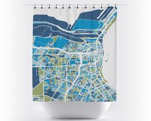 Corpus Christi Map Shower Curtain - usa Shower Curtain - Chroma Series