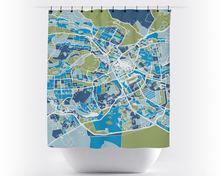 Nairobi Map Shower Curtain - kenya Shower Curtain - Chroma Series