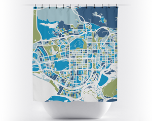 Shenzhen Map Shower Curtain - china Shower Curtain - Chroma Series