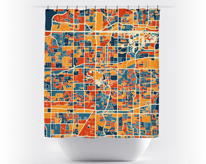 Arlington Map Shower Curtain - usa Shower Curtain - Chroma Series