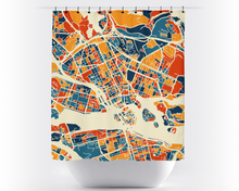 Stockholm Map Shower Curtain - sweden Shower Curtain - Chroma Series