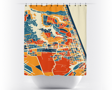 Virginia Beach Map Shower Curtain - usa Shower Curtain - Chroma Series